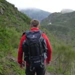 Tourenrucksack Tour Bag 50 beim Wandern auf Teneriffa