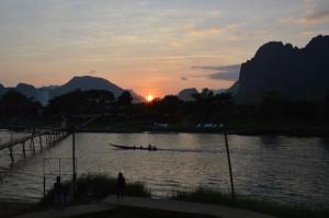 Laos - sun set
